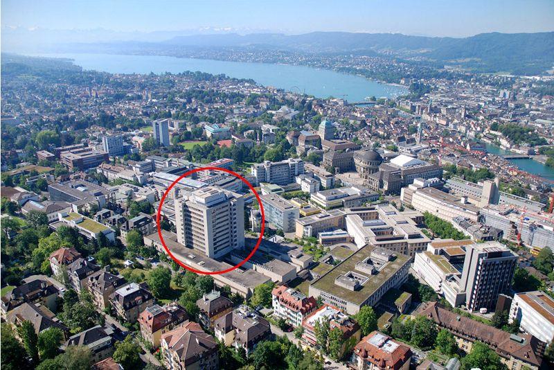 Prof. - Daniel Fink - UniversitätsSpital Zurich - Localisation de la clinique